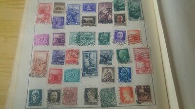 Page of old italy stamps