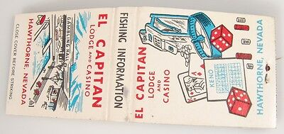 El Capitan Lodge and Casino Hawthorne Nevada Matchbook