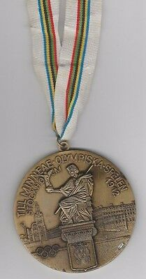 remembrance medal   Olympic Games STOCKHOLM 1912 - with tape / 8 cm !! VERY RARE