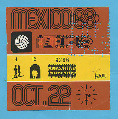 Orig.Ticket   Olympic Games MEXICO 1968  Football  JAPAN - HUNGARY  1/2 Final !!