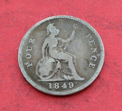Victoria Silver Fourpence/Groat 1849