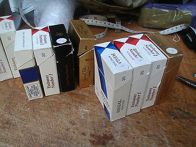 vintage cigarete packets & packaing lot 1980's-90's jps,embassy,rothmans,b&h