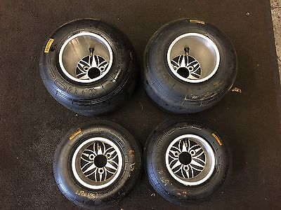 Go Kart Full Set Of Low Volume Wheels With Tyres Rotax Max Tkm Pro X30 F100