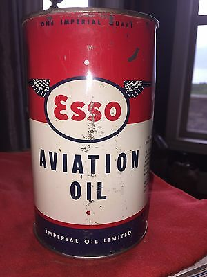 Hard To Find Esso Aviation Oil Imperial Quart Can