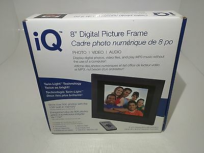 New (In Box) iQ 8 inch Digital Picture Frame
