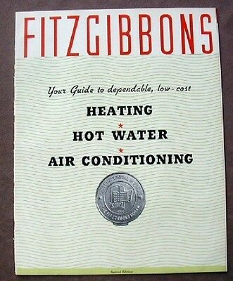 1937 Fitzgibbons Boiler Co NY Catalog Heating Cooling HVAC Products Asbestos16p