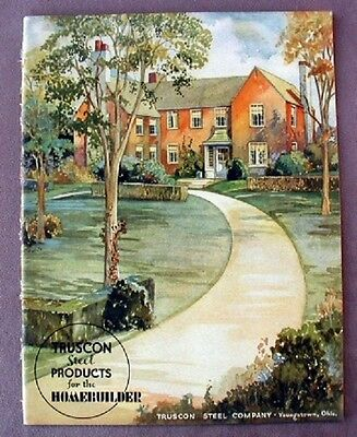 1937 TRUSCON STEEL PRODUCTS for Homebuilder Brochure Metal Lath Doors Casements+