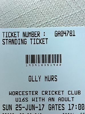 Bargain X2 £55 OLLY MURS CONCERT TICKETS IN Worcester On 25 June