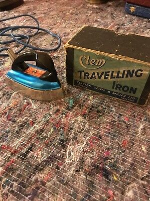 Vintage Boxed Complete Travel Iron