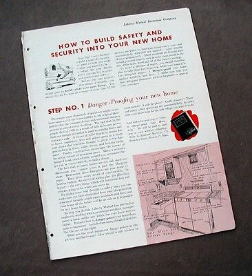 1945 Liberty Mutual Insurance Company Brochure Ad – New Home Coverages Secutiry