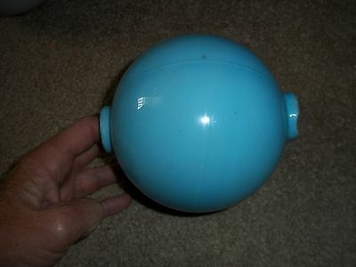 Old Original Blue Turquoise Glass Lightning Rod Ball