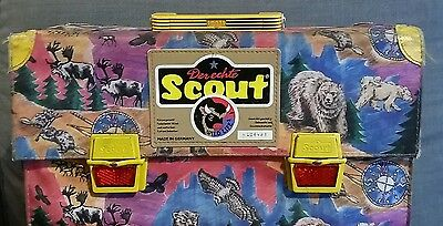derechte scout wildlife vintage backpack made in germany boy scout stag bear