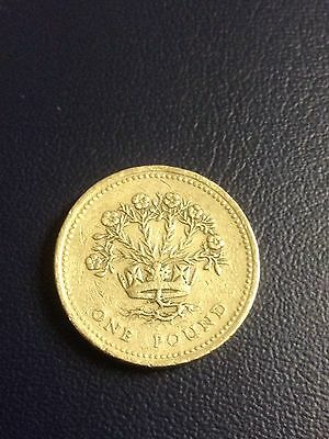 1991 Flax Plant One Pound Coin .Rare
