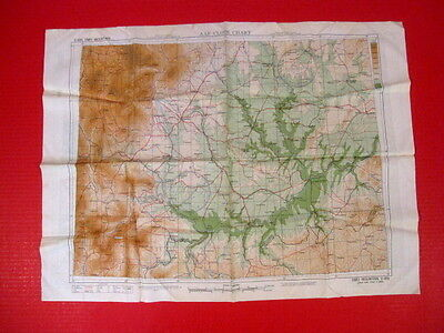 WWII USAF Army Air Force CBI Pilot Silk Escape Map of China - Dated 1944  - XLNT