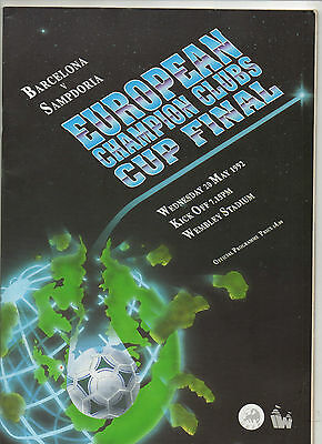 Orig.PRG  European Cup  91/92  FINAL  FC BARCELONA - SAMPDORIA GENUA  !!  RARE