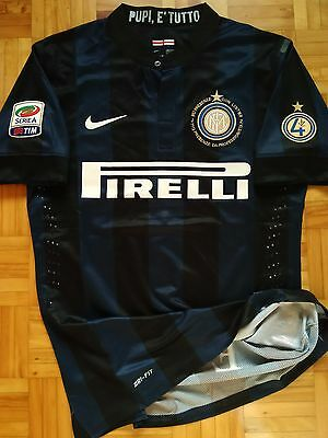 Inter Milan Zanetti Player Issue shirt Match un worn Jersey XL Nike Maglia Ever