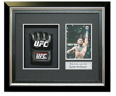 Conor McGregor Signed UFC Glove In Deluxe Black Frame photo proof!