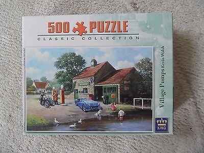 500 Piece Jigsaw Puzzle by King - Village Pumps by Kevin WALSH