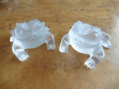 Pair Of Lalique Gregorie Frogs Selling For One Price!!!!