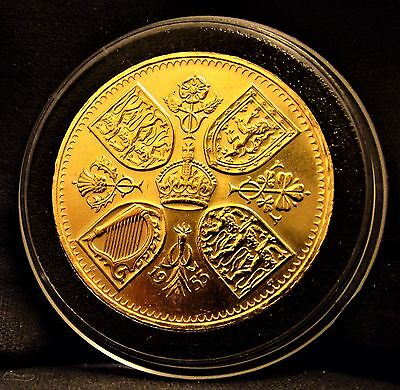 1953  Coronation of  Elizabeth Crown II  Original issue coin 24k Gold Plated