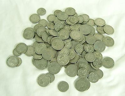 790g of Elizabeth II predecimal Shillings and Florins and a few sixpences