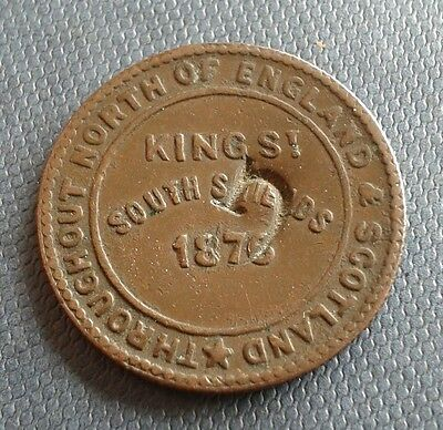 1876 Newcastle & London Tea Company Token