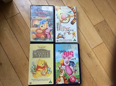 vhs video tapes winnie the pooh films x4