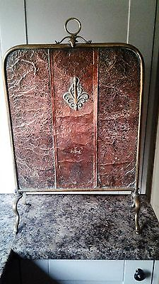 Vintage COPPER AND BRASS FIRE SCREEN.