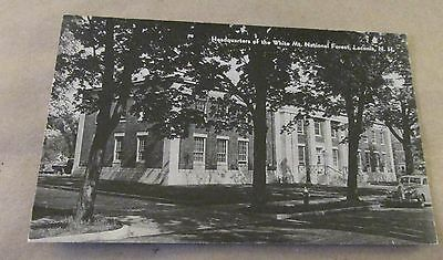Old Postcard<<LACONIA, NEW HAMPSHIRE >>{WHITE MT. NAT. FOREST--HEADQUARTERS}