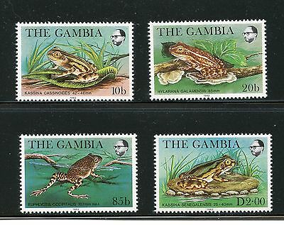 Gambia #455-458 (GA455) Complete 1982 Wild Life issue, MNH, FVF