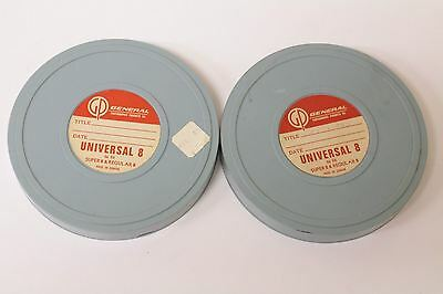Lot of 2 General Photograph Products Reel and Can set Storage for 8 and super 8