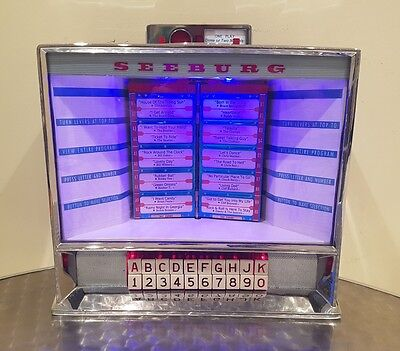 1960 Seeburg 3W100 Wallbox Jukebox *converted To Ipod/mp3!* Retro 50's 60's 70's