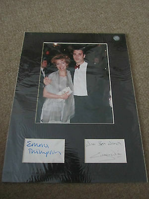 Emma Thompson  - Greg Wise Signed  - Paper Page Matted + Photo  - Uacc Proof