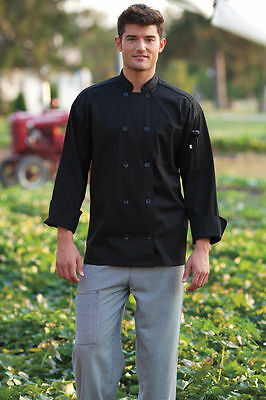 Uncommon Threads Traditional Fit Classic Chef Coat Jacket Large 10 Button NEW