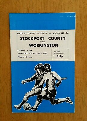 1975/76 STOCKPORT COUNTY  v WORKINGTON  - EXCELLENT CONDITION