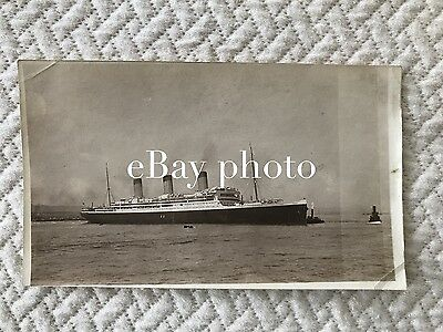 RMS Majestic Real Photo Near Broadside / White Star Line / Titanic Olympic