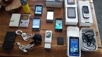 Job lot of phones. iphones, htc phones, Nokia, Sony & ipod touch