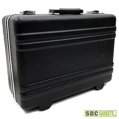 Black Hard-Shell Carrying Case with Foam Inserts (Size: 18 x 14 x 8.5 inches)