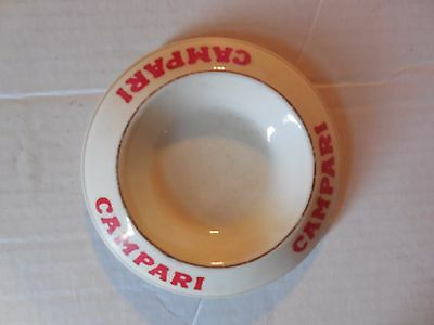 Antique Campari Liquor Advertising French Porcelain Dish Virginia Estate Sale