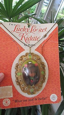 Rare Vintage Liddle Kiddles Lois Lucky Locket Necklace Little Chain Black Doll