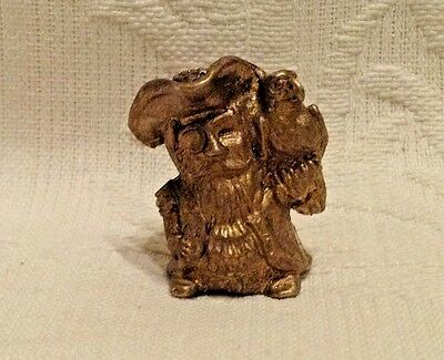Russian Сollectible Decorative Brass Thimble Pirate with parrot on shoulder