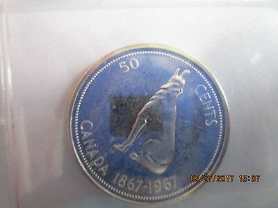 Canada 50 Cents/Centennial Wolf / 80% Silver/AU to UNC / item