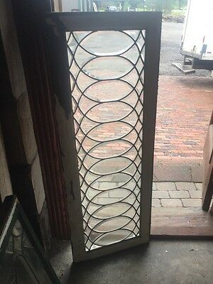 Sg 1488 Antique All Beveled Glass Transom Window 19 X 50.5