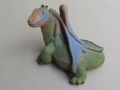 Vintage Don James Green Dragon with Blue Wings