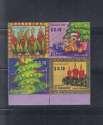 El Salvador 2007 Christmas  Sc 1672  Mint Never Hinged
