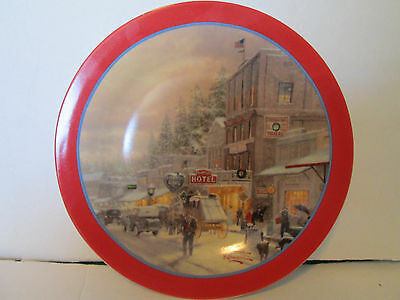 Thomas Kinkade Christmas Decorative China Collector Plate 9""