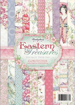 HUNKYDORY A4 Speciality Paper Pad ~ EASTERN TREASURES (48 Sheets)