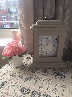 Shabby cottage country Brown Classic Chic mantle Mantel clock