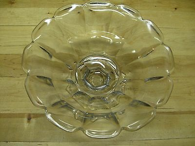 Heisey Clear Crystal * OPEN CANDY DISH * Marked * Footed * 4 Inch