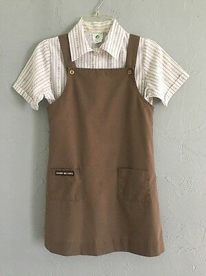 Vintage Girl Scouts Brownie Dress / Jumper & Shirt Official Uniform Made USA